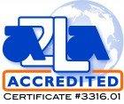 A2LA accredited calibration