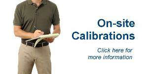 on-site calibrations