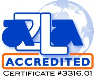 A2LA Accredited with Certificate